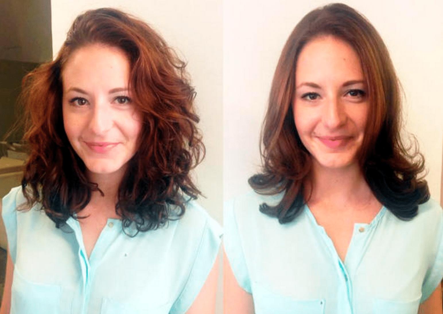 Carola Claudia Staudinger Hair Salon & Spa WOMAN-Redakteurin Nadja hat natürliche Lockenund ärgert sich seit Jahren darüber, dass ihre Haare häufig wie ein wilder Afro aussehen. Sie hat die Keratin-Behandlung bei Haarstylistin Carola Claudia Staudinger in Wiengetestet.