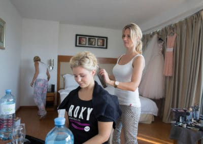 Hochzeitsfrisur by Carola Claudia Staudinger. Wedding hair - updo.