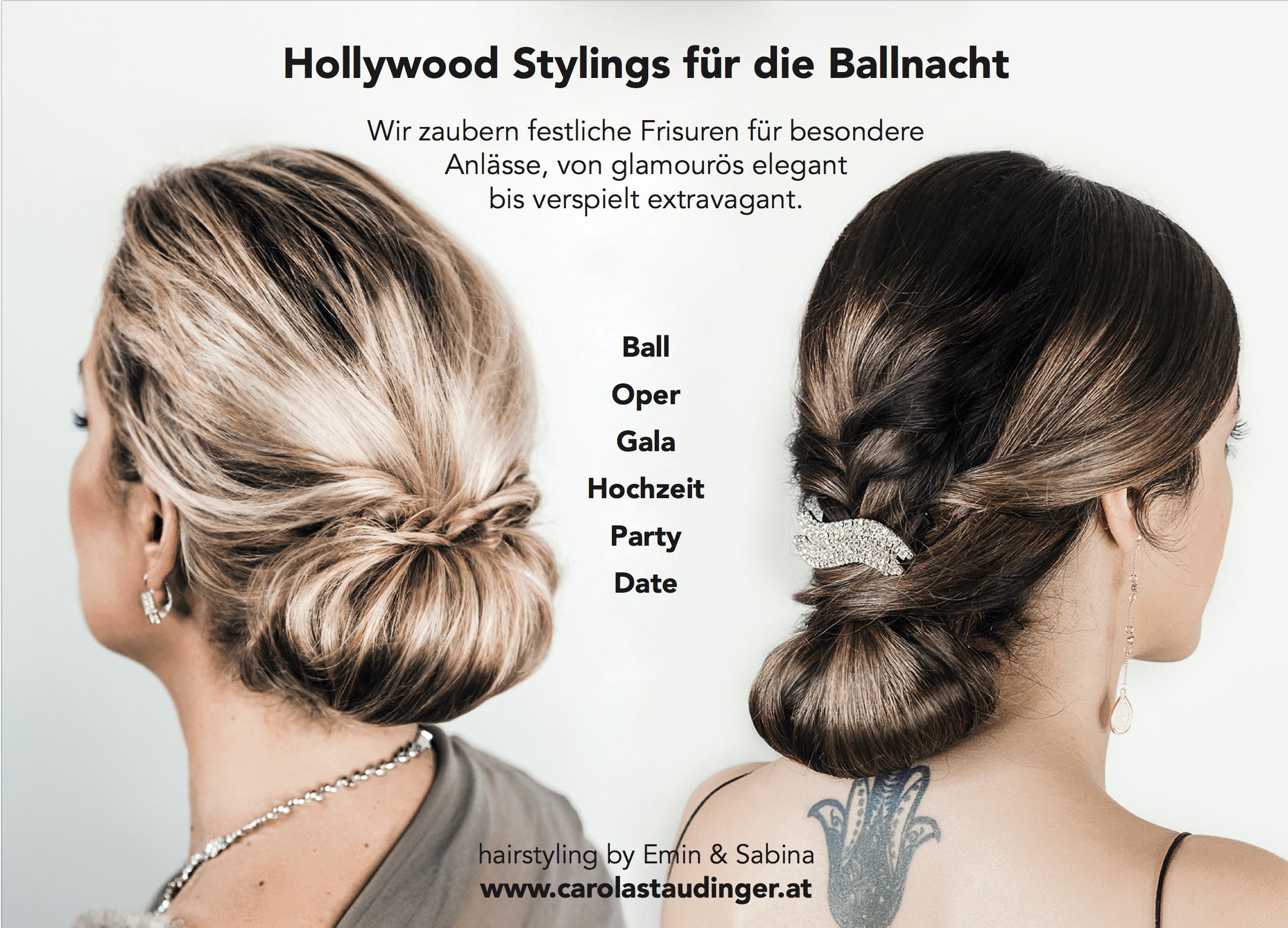 Carola Claudia Staudinger Hair Salon & Spa Wir zaubern festliche Frisuren für besondere Anlässe, von glamourös elegant bis verspielt extravagant.