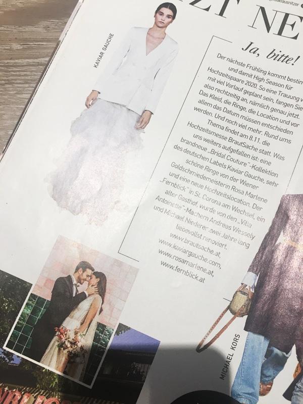 Carola Claudia Staudinger Hair Salon & Spa Shooting mit Fernblick zu High Season der Hochzeiten im Frühling 2020.