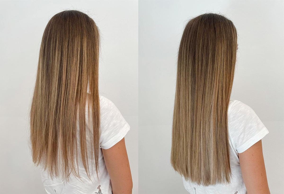 dichte Haare  - mehr Volumen - mehr Haare - gesunde Haarverdichtung in Wien - Carola Claudia Staudinger Hair Extensions