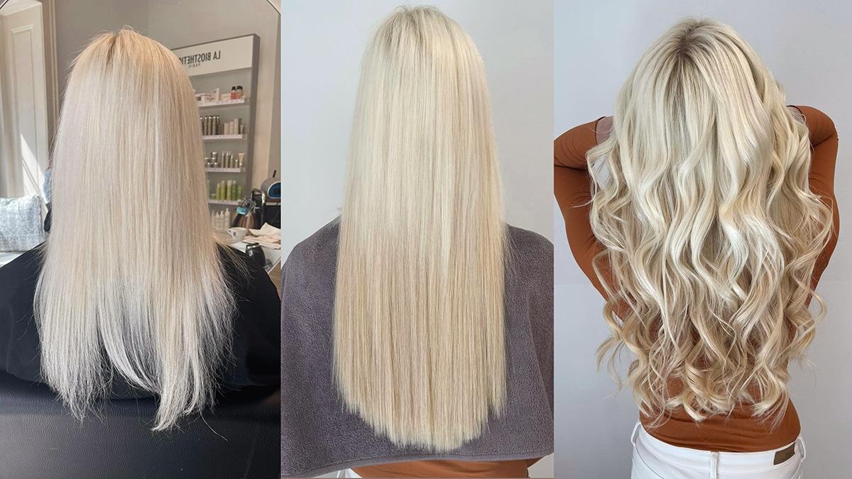 Carola Claudia Staudinger Hair Salon & Spa Natürlich ist jede Haarverlängerung individuell und abhängig von der Länge und dem gewünschten Volumen. Damit du dir ein ungefähres Bild von den Kosten machen kannst, wollen wir dir ein Beispiel zeigen: